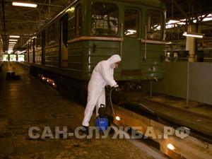 дезинсекция железнодорожных составов, дезинсекция железнодорожных вагонов, дератизация железнодорожных составов